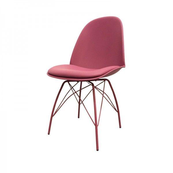 Daan eetkamerstoel roze, stoel voor huisje bont