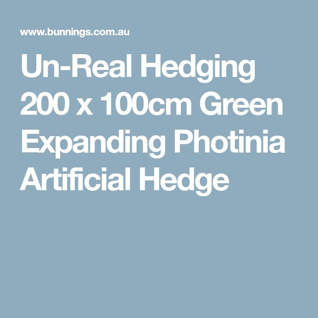 Un-Real Hedging 200 x 100cm Green Expanding Photinia Artificial Hedge