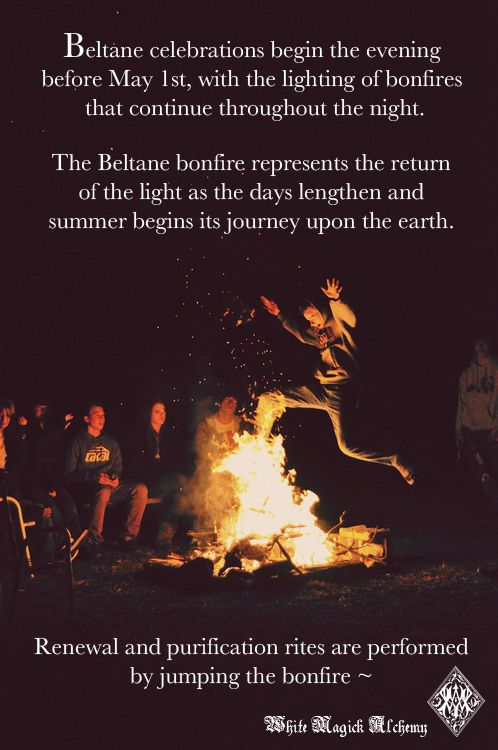Beltane, festival of the fire God Bel. Celebrating fertility of the land & living, the maypole was central to celebrations, a tall pole surmounted by flowers would descend as ribbons were wound tight around the dancers, signifying sexual union