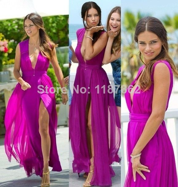 Find More Prom Dresses Information about PD 0298 V Neck Vestidos De Formatura Longo Slit Pureple Long Prom Dresses Elegant Sexy Prom Dress 2014 Cheap Summer Dress,High Quality Prom Dresses from White Snow on Aliexpress.com