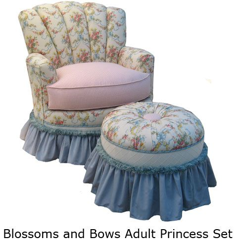 Blossoms and Bows  This lovely Rocker is an elegant way to curl up with a favorite book or lull your child to sleep with a soothing lullaby.