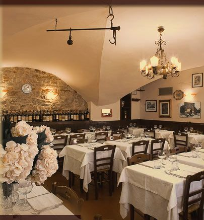 Buca Mario: a great Restaurant in Florence, Italy. Excellent Tuscan food and wine.