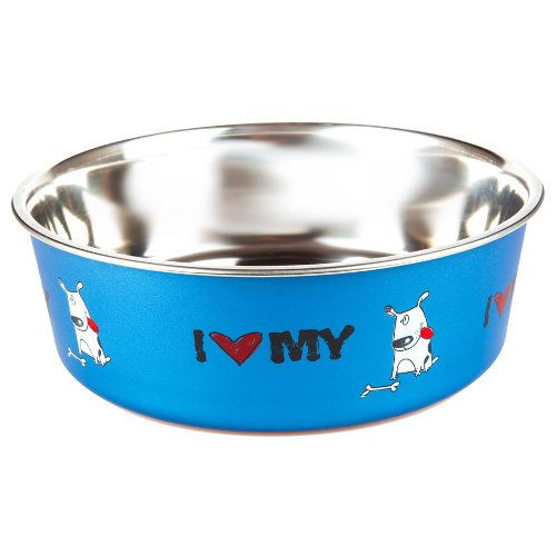 Technical Pet #Écuelle en acier inoxydable I love my #dog à partir de 2€99 existe en deux formats sur www.TiendAnimal.fr