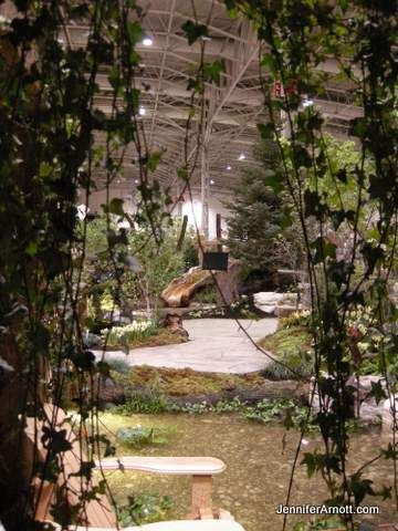 View through the ivy into the Bienenstock Natural Playground area at Canada Blooms 2014
