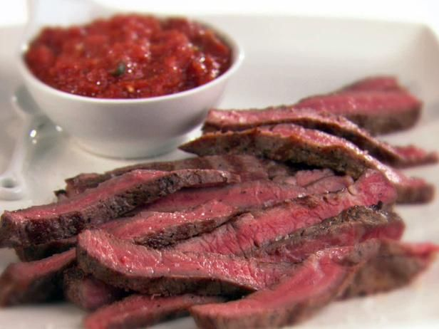 Rib-Eye Steaks w/Smokey Arrabiata Sauce