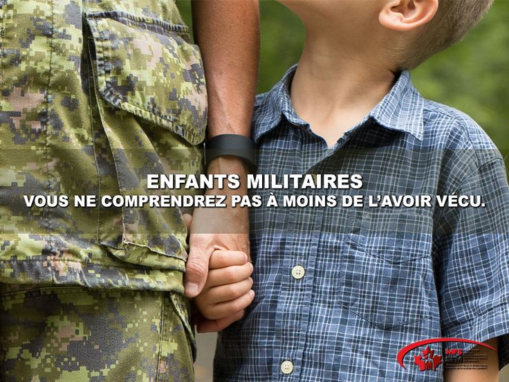 Enfants militaires. Vous ne comprendrez pas à moins de l'avoir vécu.