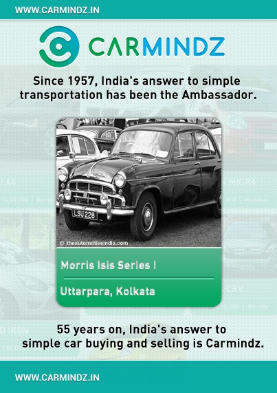 Hindustan Motors Limited (HML) started operations in a small assembly plant in Port Okha near Gujarat, the manufacturing facilities later moved to Uttarpara, West Bengal in 1948, where it began the production of the Ambassador. This car is based on the Morris Oxford, a British car that dates back to 1954.    Source: Wikipedia
