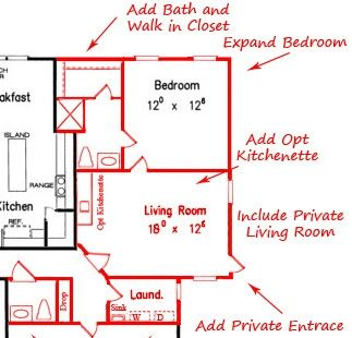 14 best images about mother in law suites on pinterest for Floor plans for in law suite addition