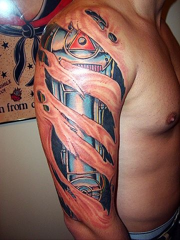 robot arm tattoo by brian massey tattoos pinterest arm tattoo and tattoo. Black Bedroom Furniture Sets. Home Design Ideas