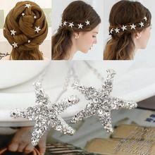 20 Pcs cristal Starfish strass casamento da dama de honra mulheres grampos de cabelo pinos acessórios de cabelo(China (Mainland))