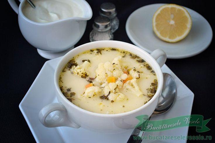 Reteta Supa de conopida cu tarhon.Preparare Supa de Copida.Supa de conopida fara carne.Ciorba de conopida.