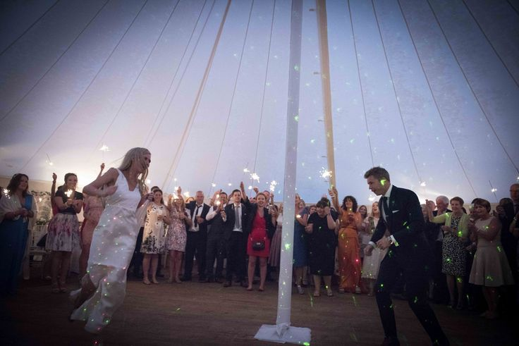 Bride & Groom dancing their first dance wiithin our Traditional Round Canvas Pole Tent at Ballintubbert House & Gardens