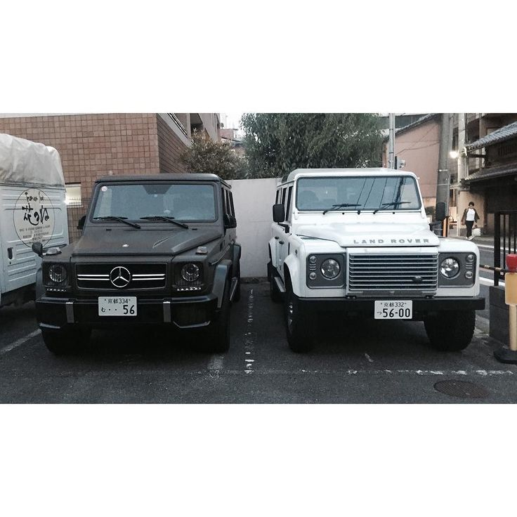 which wagon u wanna get dirty in? G-Class or Defender?  #Mercedes #MercedesBenz #GClass #Merc #Benz #LandRover #Rover #Defender #PXPJapanFormFollowsFunction16 #PXPVoyage #Kyoto #Japan #Carporn #LandRoverDefender by bigbadbrown_ which wagon u wanna get dirty in? G-Class or Defender?  #Mercedes #MercedesBenz #GClass #Merc #Benz #LandRover #Rover #Defender #PXPJapanFormFollowsFunction16 #PXPVoyage #Kyoto #Japan #Carporn #LandRoverDefender