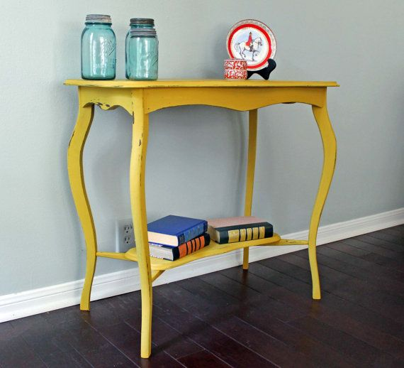 RESERVED Vintage Painted English Accent Entry Table Small Writing Desk  Houston Texas