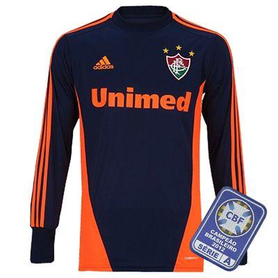 Camisa Fluminense Goleiro 2012 - 2013 Adidas Azul com Laranja 96d116579860e