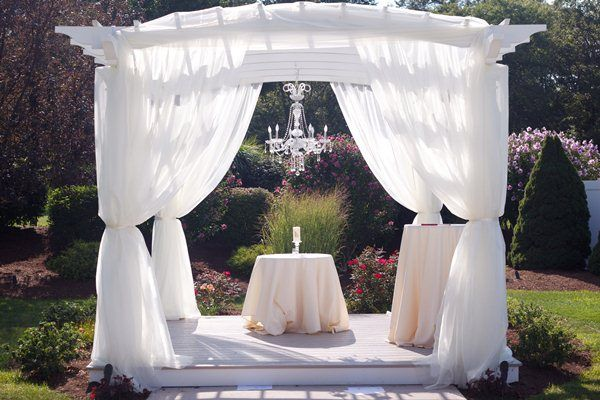 Mint Color Outdoor Ceremony Decorations