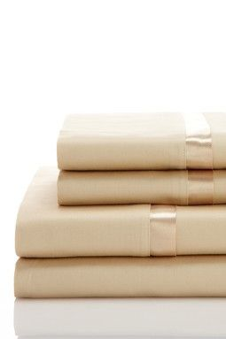 Waterford Luxury Linens: Kiley Sheet Set - Wheat