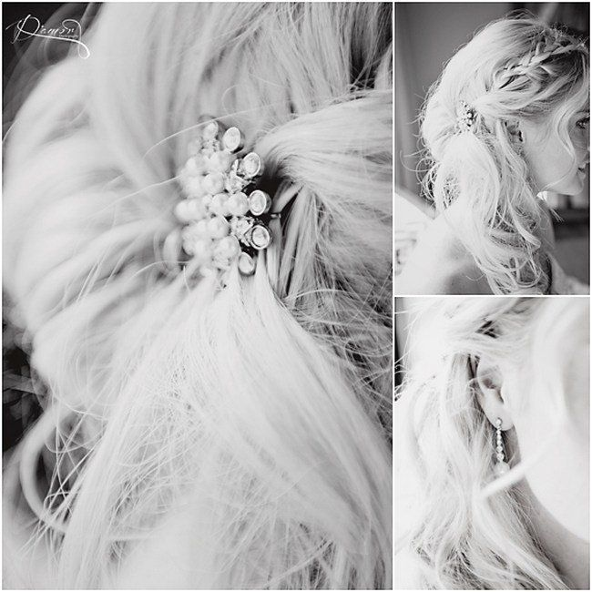 16 Bridal Hairstyles for Long Hair | {Braided half-up half-down bridal hairstyle for long hair | Hair: Vixen Art  | Image credit: Damor Photography via ConfettiDaydreams.com}