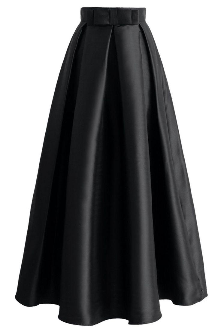 Black satin prom skirt, tutu skirts, party dress 2017