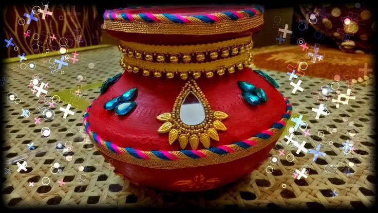 Pot or matki decoration for wedding (DIY)