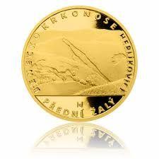 Zlatá čtvrtuncová medaile Rozhledna Žalý proof