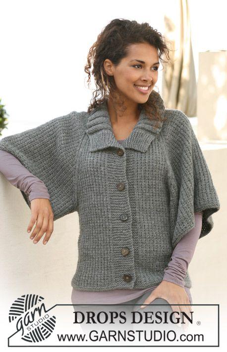 "DROPS jacket with raglan in ""Alaska"". Size S to XXXL. ~ DROPS Design"