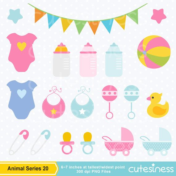 Baby Animal Clipart  Baby Jungle Animals Clipart Baby shower
