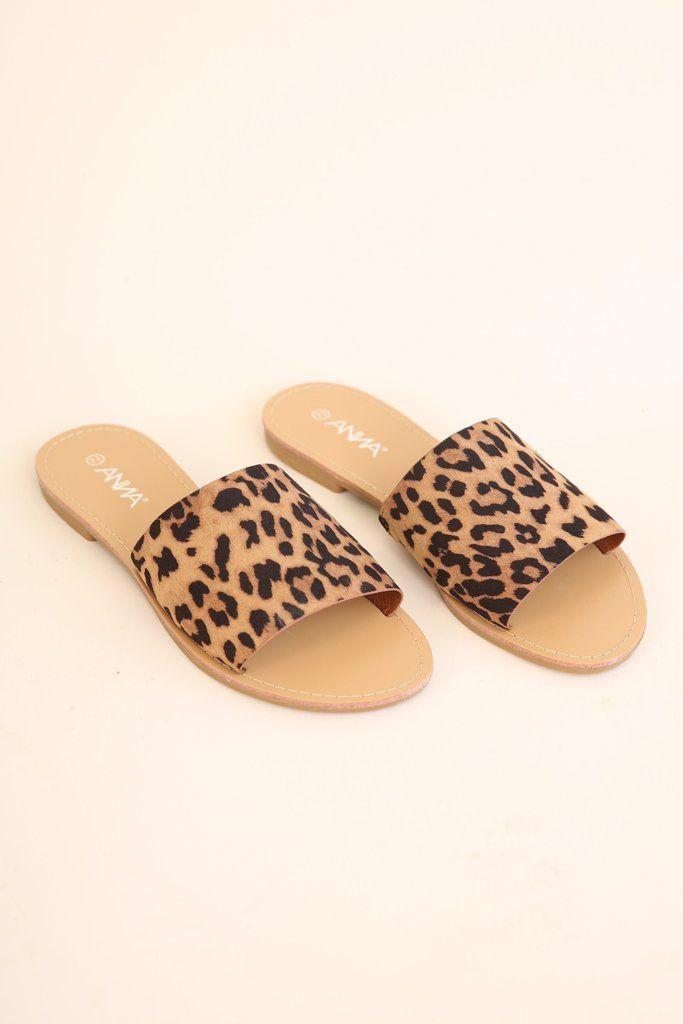 91de04ddc2 Cheetah print sandals   2018 Hazel & Olive in 2019   Sandals, Shoes ...