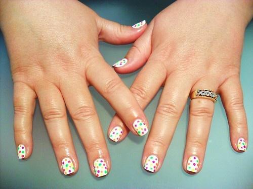 birthday cake poke-a-dot nail art