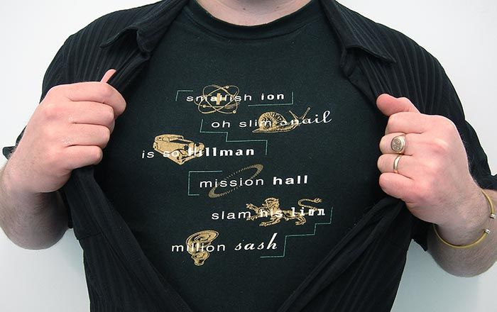 1993 – Our first gift. Mission Hall are creative words –what else can we make from those letters.