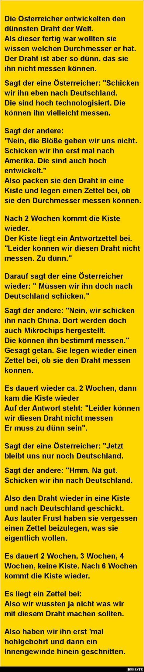 Die Österreicher entwickelten den dünnsten.. | DEBESTE.de, Lustige Bilder, Sprüche, Witze und Videos