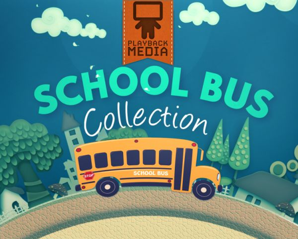 This collection features a cartoon school bus driving around town and makes a great fit for Back To School! Includes a countdowm, 6 motions, and 6 stills. School Bus Collection   Playback Media