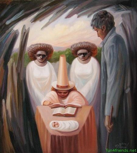 35 Mind-Blowing Illusion Paintings by Oleg Shuplyak - Find Hidden Figures