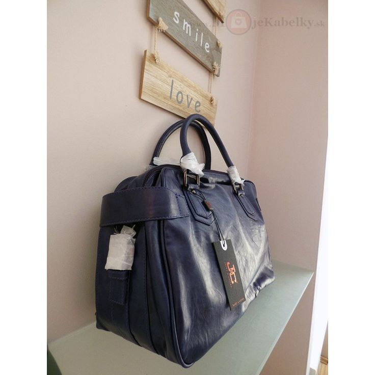 Značková talianska kabelka J&C modrá ekokoža JC90