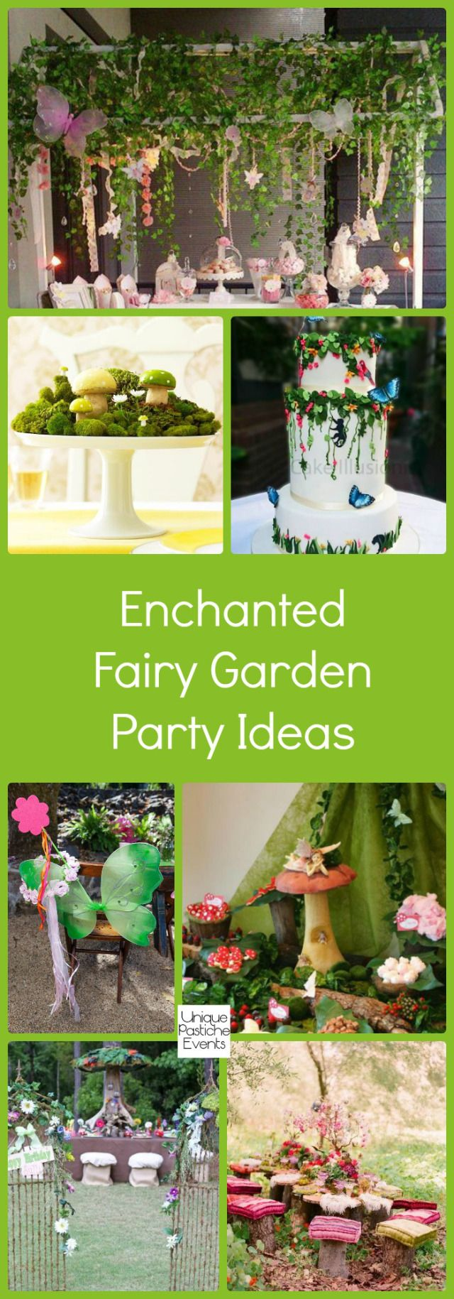 Enchanted Fairy Garden Party Ideas #IdeaBoard #InspirationBoard