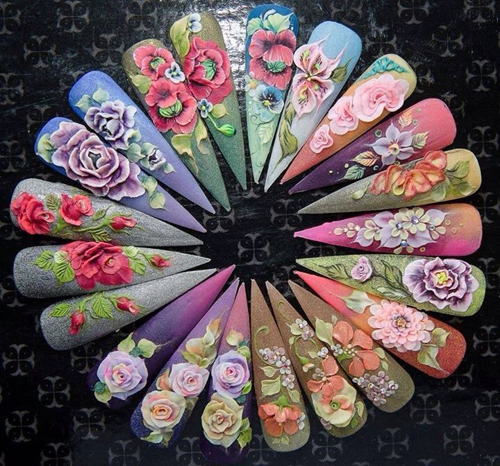 Flowers nails                                                                                                                                                                                 More