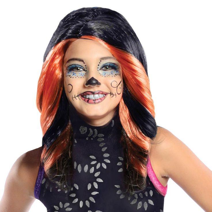 Lasten Monster High Skelita Calaveras. Tuote on lisensoitu Monster High Skelita Calaveras peruukki ja se täydentää upeasti hahmon naamiaisasukokonaisuuden.