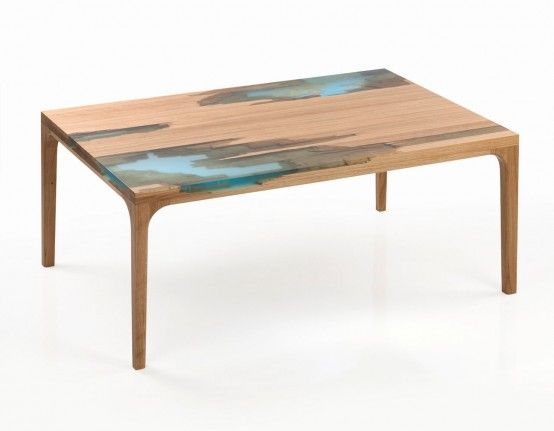 Wood And Resin Furniture Inspired By Self-Healing Trees - DigsDigs