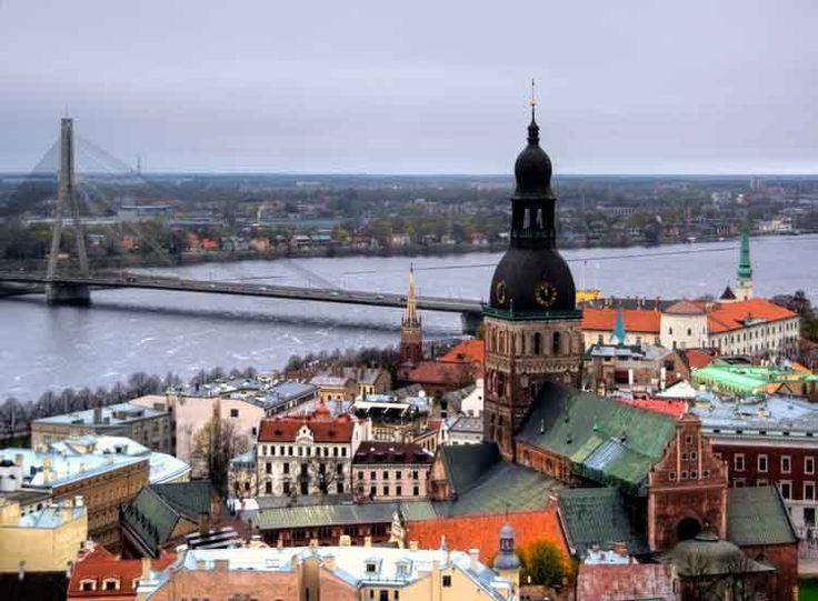 The historic centre of Latvia's capital, Riga. Image by Mariusz Kluzniak / Flickr / Getty Images.