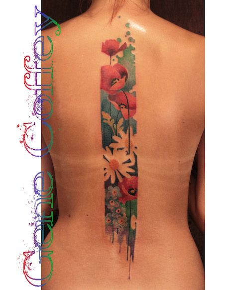 427 best poppy tattoo images on pinterest for Abstract flower tattoo