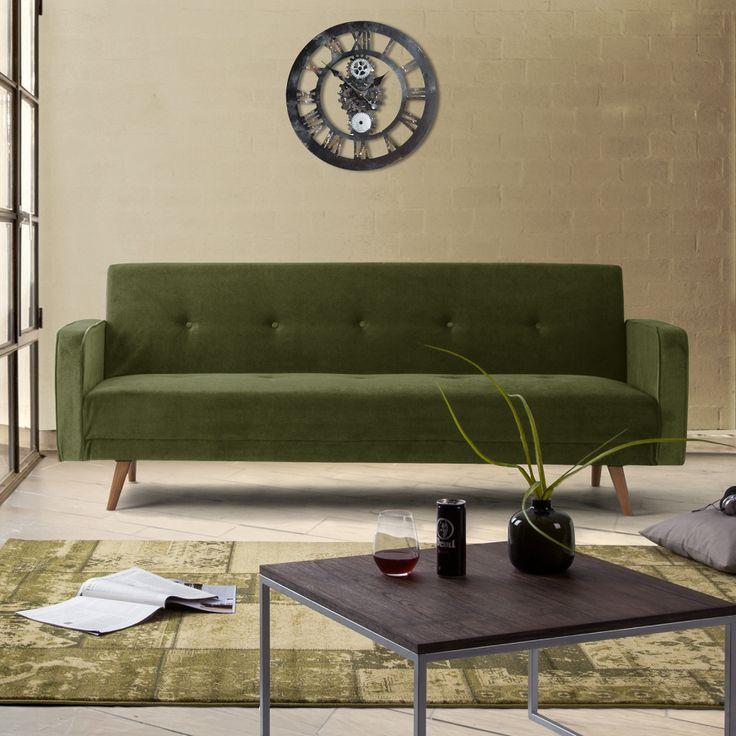 Slaapbank Daru - fluweel groen