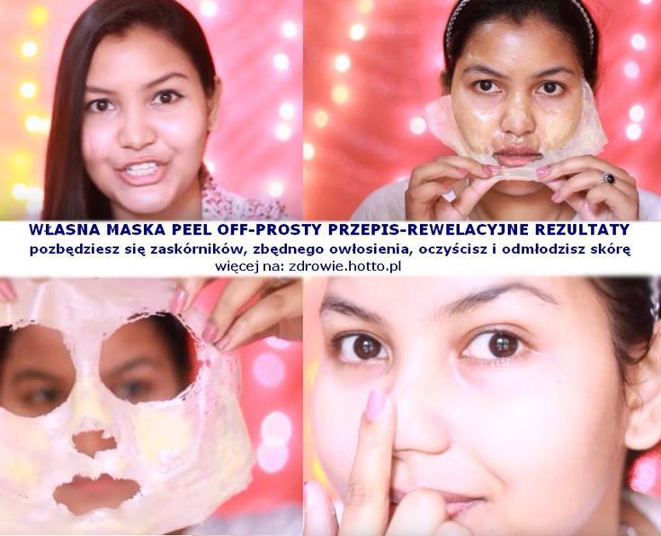 Przepis-Domowa Maska Peel Off, niezwykle skuteczna na zaskórniki, owłosienie…