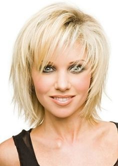 layered straight hair with bangs for women over fifty - Google Search