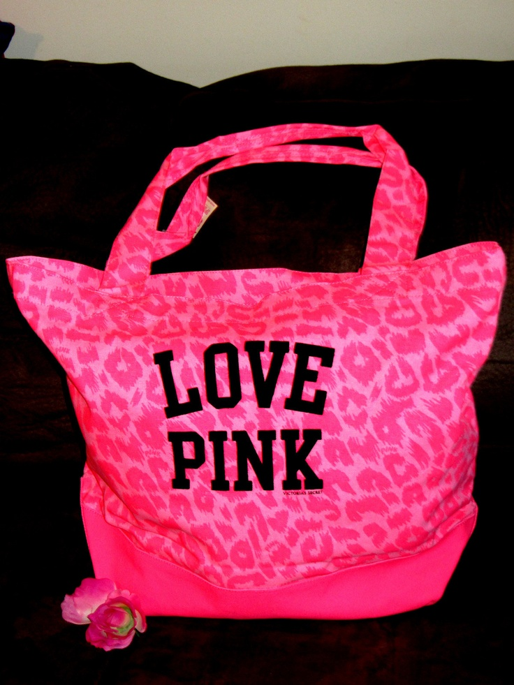 VICTORIA'S SECRET LOVE PINK LEOPARD WEEKENDER TOTE