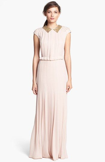 Tory Burch 'Tatum' Silk Dress available at #Nordstrom (For all those black-tie events I'm invited to.)