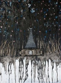 """Between the Stars"" mixed media painting by Amber Maida #Art #Painting"