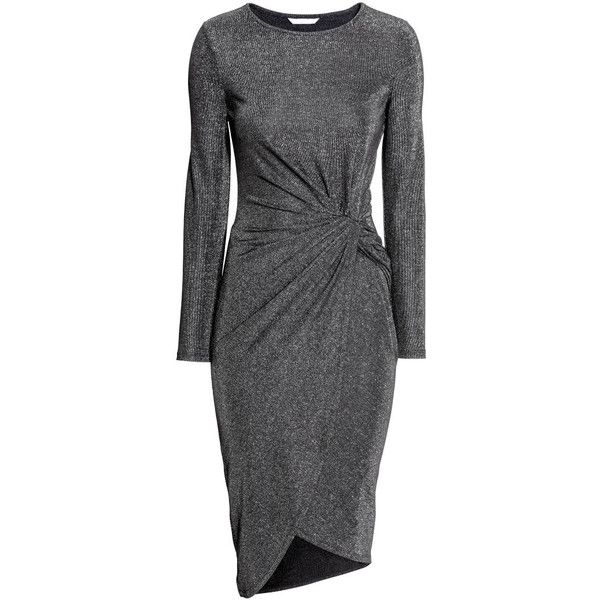 Drapiertes Kleid 29,99 (€34) ❤ liked on Polyvore featuring dresses