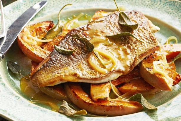 Curtis Stone's deliciously good Orange Brown Butter Sauce gives the pan-fried snapper a sweet lift.