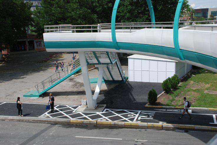 "pedestrian bridge, mamaia, romania ""Iaht"""