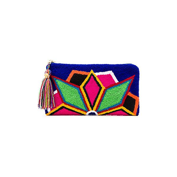 the way u Neon Lights Blue Clutch ($290) ❤ liked on Polyvore featuring bags, handbags, clutches, tassel purse, neon clutches, blue hand bag, hand bags and neon handbags